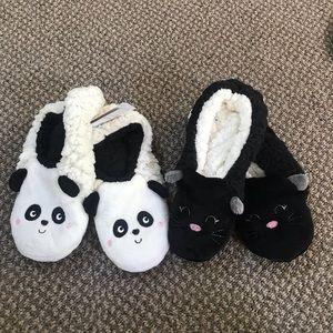 Target Panda and Cat Slipper Socks